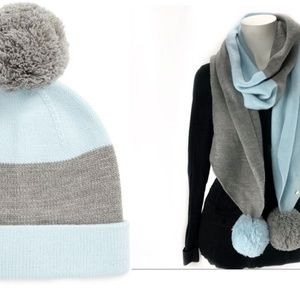 New Kate Spade Colorblock Beanie & Scarf